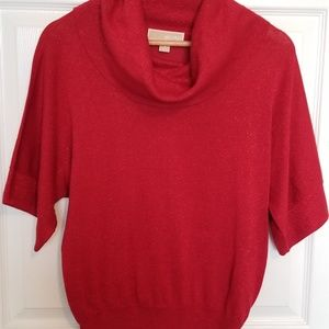 MICHAEL Michael Kors sparkly red sweater shirt